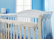 Everyday Kids 3-Piece Padded Baby Crib Rail Cover Set- White