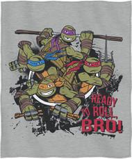 "TMNT ""Turtle Roll Bro"" Sweatshirt Throw Blanket"