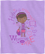 "Doc McStuffins ""Doc Love"" Sweatshirt Throw Blanket"