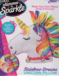 Shimmer 'N Sparkle Make Your Own Rainbow Dreams Unicorn Pillow