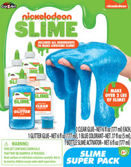 Nickelodeon Glitter Slime Super Pack - Blue