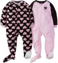 GERBER Toddler Girl 2-Pack 'Love' Blanket Sleeper - 2T