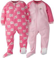 GERBER Toddler Girl 2-Pack 'Bear' Blanket Sleeper - 2T