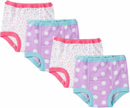 GERBER Baby Girls 4-Pack Training Pants - Butterfly (3T)