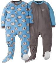 GERBER Toddler Boy 2-Pack 'Monkey' Blanket Sleeper - 2T
