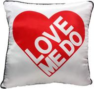 The Beatles Love Me Do Decorative Pillow