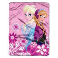 """Disney's Frozen """"Spring Sisters"""" Micro Raschel Throw"""