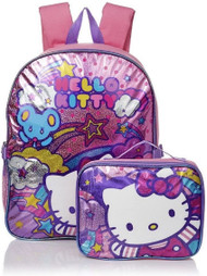 Hello Kitty 'Stars and Clouds' 15-Inch Backpack & Lunch Set