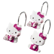 Hello Kitty on Telephone Shower Curtain Hooks