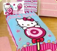 Hello Kitty Sweet Lollipop Twin Blanket