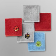 Angry Birds 5-Pack Washcloth Set