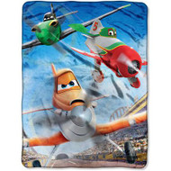 "Disney Planes Grand Stand 46"" x 60"" Micro Raschel Throw"