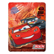 "Disney Cars Blanket Fleece Throw Lightning Mcqueen 46""x60"""
