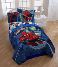 Marvel Spider Man Astonish Full Comforter and Shams Set