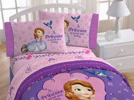 "Disney Sofia The First ""A Princess is Sweet and Loving"" Full Size Sheet Set"