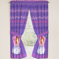 "Disney Junior Sofia the First Princess Drapes Panels Curtains, Set of 2 (42"" x 63"")"