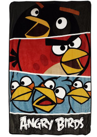 Angry Birds Twin/Full Micro Raschel Blanket
