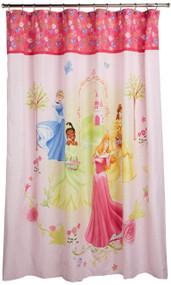 Disney Princess Microfiber Shower Curtain: Features 4 Disney Princesses 70in. X 72in.
