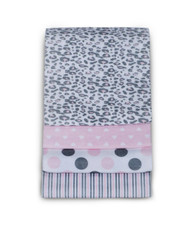Carter's 4 Pack Wrap Me Up Receiving Blanket, Pink Cheetah