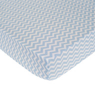 Carter's Zig Zag Crib Fitted Sheet, Blue