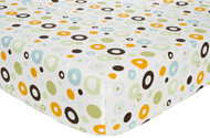Carter's Easy Fit Printed Crib Fitted Sheet, Laguna