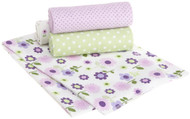 Carters Wrap Me Up Receiving Blanket, 4 Pack, Lilac