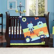 Baby Bots 4 Piece Baby Crib Bedding Set by Nojo