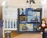 NoJo Ahoy Mate Crib Bedding Set