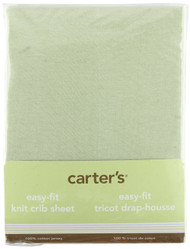 Carters Easy Fit Jersey Crib Fitted Sheet, Sage