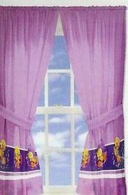 Tweety Bird Window Panels One Pair 82inx63in Pink/purple Decor
