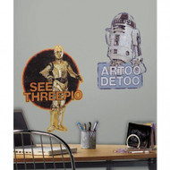 Star Wars R2-D2 and C-3PO Giant Wall Decals