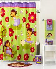 """Nickelodeon Dora The Explorer """"Picnic"""" Shower Curtain"""