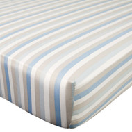 Carter's Crib Fitted Sheet, Boy Stripe