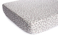 Carter's Printed Fitted Sheet, Grey Cheetah