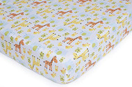 Carter's Easy Fit Printed Crib Fitted Sheet, Animal