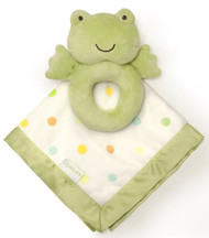 Carter's Rattle and Security Blanket, Green Frog