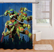 "Nickelodeon Teenage Mutant Ninja Turtles ""Heroes"" Shower Curtain"
