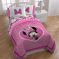 Minnie Mouse 'Cute Bows' Twin / Full Size Comforter