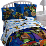 TMNT Ninja Turtles 'City Limits' 3pc Twin Bed Sheet Set