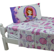 3pc Disney Sofia the First Twin Bed Sheet Set Princess in Training Bedding Accessories