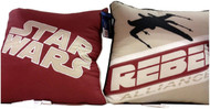 "Star Wars Throw Pillows 15"" X 15"" - Starfighter and Rebel Alliance"