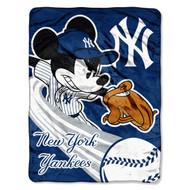 NEW YORK YANKEES MLB MICKEY MICRO RASCHEL (46IN X 60IN)