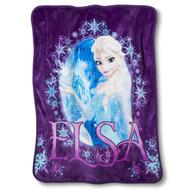 Disney Frozen Elsa 2 Piece Silk Touch Throw & Canvas Tote Set - Purple