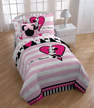 Disney Minnie Hearts Sheet Set, Twin