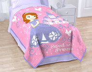 Disney's Sofia the 1st Sweet Princess Coral Fleece Blanket