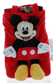 Disney Mickey Mouse Clubhouse 3D Plush tote bag and throw blanket set