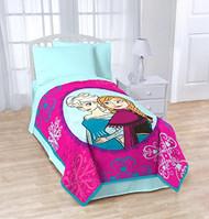 "Disney Frozen Anna and Elsa ""Snowflake"" Fleece Blanket"