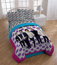 Global Entertainment One Direction Dots Comforter, Twin/Full