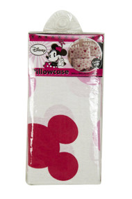 Disney Hearts Pillowcase with Large pink dots and Minnie Mouse