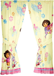 Dora Painted Flowers 63-Inch Coordinating Drape